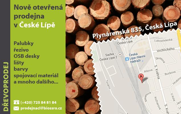 Banner nově otevřená prodejna Česká Lípa